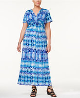 NY Collection Petite Plus Size Printed Maxi Dress, Created for Macy's