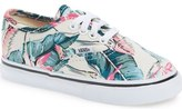 Vans 'Authentic - Tropical' Sneaker (Baby, Walker, Toddler, Little Kid & Big Kid)