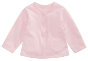 First Impressions Baby Girls French Terry Heart-Pocket Cardigan, Created for Macy's