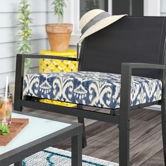 """Winston Porter Indoor/Outdoor Dining Chair Cushion Size: 5"""" H x 22.5"""" W x 25.5"""" D"""