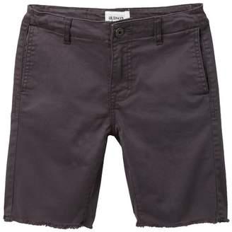 Hudson Jeans Raw Hem Sateen Chino Shorts (Big Boys)