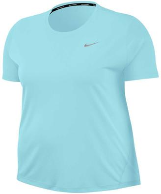 Nike Womens Miler Running Tee Plus