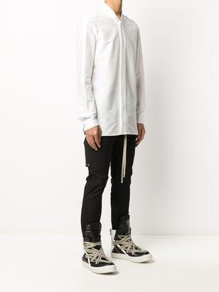Rick Owens Long-Sleeved Collarless Shirt