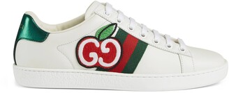 Gucci Women's Ace sneaker with GG apple