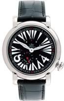 Gio Monaco Women's 404-A DaFnE Black Dial Alligator Leather Watch