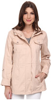 Jessica Simpson Cotton Canvas Anorak with Crochet Detail