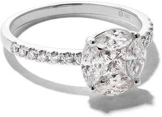 As 29 18kt white gold Mye round illusion diamond ring