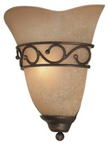 Lite Source Rosina Sconce Wall Light - Brown/Gold