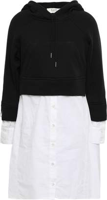 Sea Liv French Cotton-terry And Poplin Hooded Sweatshirt