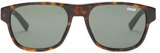 Christian Dior Sunglasses - Diorflag Rectangle Optyl Sunglasses - Mens - Tortoiseshell