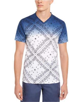 American Rag Men Dip Dyed Patterned T-Shirt