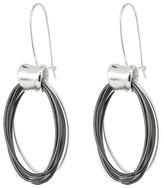 Robert Lee Morris Silver & Hematite Oval Shepherd's Hook Earrings
