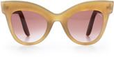Cat Eye Lapima Exclusive Helena Cat-Eye Horn Sunglasses