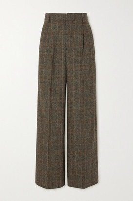 HOLZWEILER Bottomsup Checked Woven Straight-leg Pants - Brown