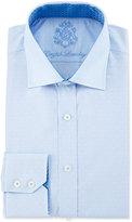 English Laundry Dot-Pattern Striped Dress Shirt, Blue/White