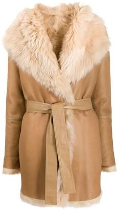 Joseph belted shawl collar coat