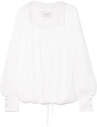 Marques Almeida Marques' Almeida - Gathered Tencel Blouse - White