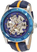 Akribos XXIV Men's AKR476BU Round Retro Skeleton Automatic Strap Watch