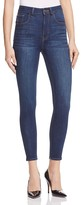 Warp and Wft MXP High Rise Ankle Jeans in Mid to Dark