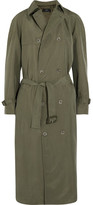Joseph Parachute Washed-silk Trench Coat - Army green