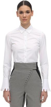 Coperni Cotton Poplin Cropped Shirt