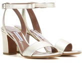 Tabitha Simmons Leticia Metallic Leather Sandals