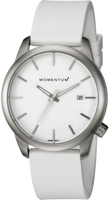 Momentum Women's Stainless Steel Japanese-Quartz Watch with Rubber Strap