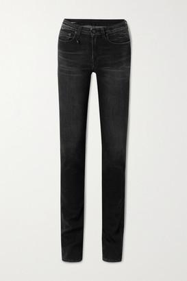 R 13 Alison Mid-rise Skinny Jeans - Black