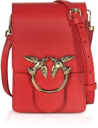 Pinko Red Love Smart Simply Shoulder Bag