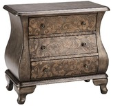 Nobrand No Brand Ashen Two Tone Scroll Bombe Chest - Pewter