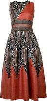 Sophie Theallet panelled zipped midi dress - women - Cotton/Polyamide - 2