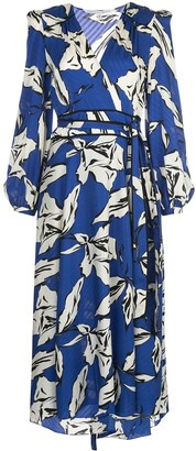 Veronica Beard floral print midi dress