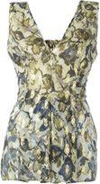 Alberta Ferretti foil print v-neck top - women - Silk/Polyester/Rayon - 44