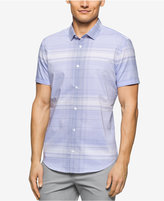 Calvin Klein Men's Big & Tall Dobby-Twill Short-Sleeve Shirt
