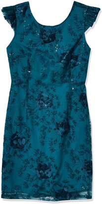 Nanette Lepore Women's Cap SLV Knit Dress W/V Back