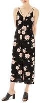 Topshop Women's Strappy Floral Jumpsuit