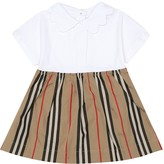 Thumbnail for your product : Burberry Children Janine stretch-cotton dress