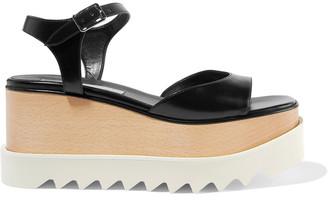 Stella McCartney Elyse Faux Leather Platform Sandals