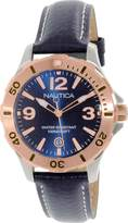 Nautica Women's NAD13000M Leather Quartz Watch