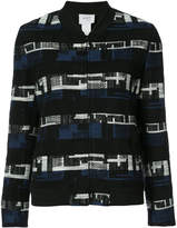 Akris Punto geometric pattern woven jacket