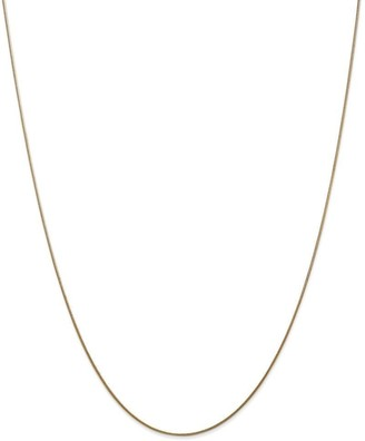 Curata 14k Yellow Gold Solid 0.8mm Round Snake Chain Necklace