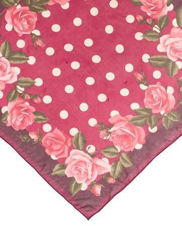 Halston Silk Floral Scarf