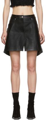 Alexander Wang Black Leather Apron Shorts