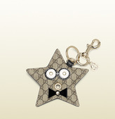 Gucci starry micro GG supreme canvas charm