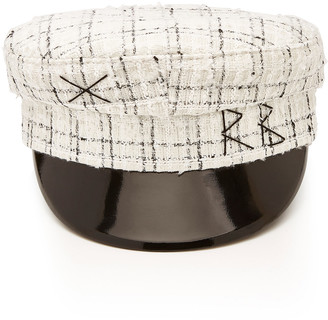 Ruslan Baginskiy Hats Checked Wool-Tweed Cap