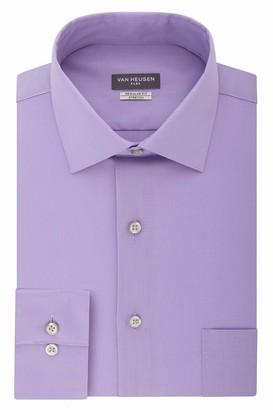 Van Heusen Men's Dress Shirt Regular Fit Flex Collar Stretch Solid