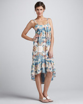 6 Shore Road 6 Shoreroad Floral-Print Backless Coverup Dress