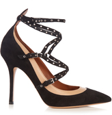 Valentino Love Latch suede and leather pumps