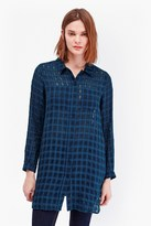 Long Open Weave Check Shirt
