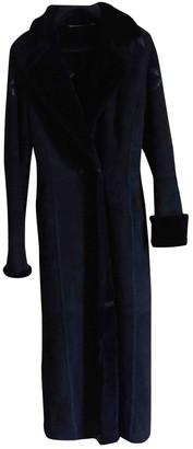 Escada Black Shearling Coat for Women